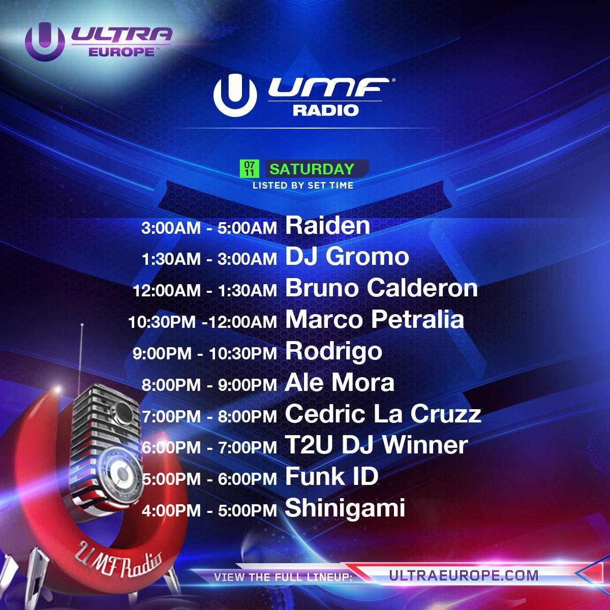 Ultra Europe-radio-saturday