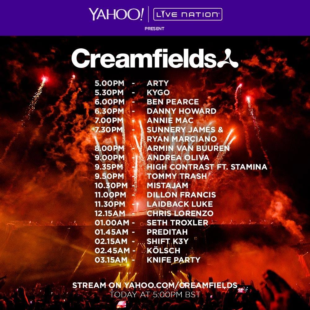 Creamfields Saturday