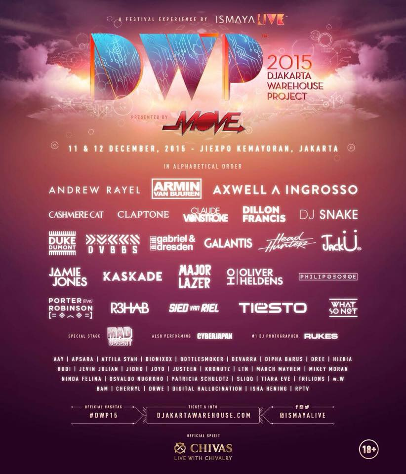 Full line-up of Djakarta Warehouse Project 2015
