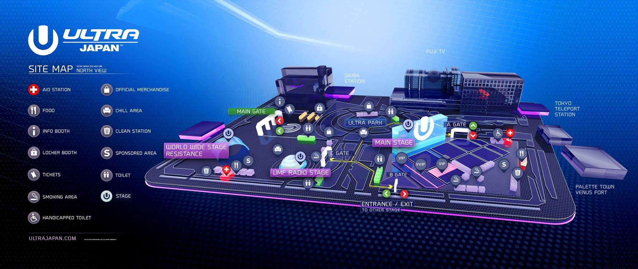 ULTRA JAPAN 2015 SITE MAP