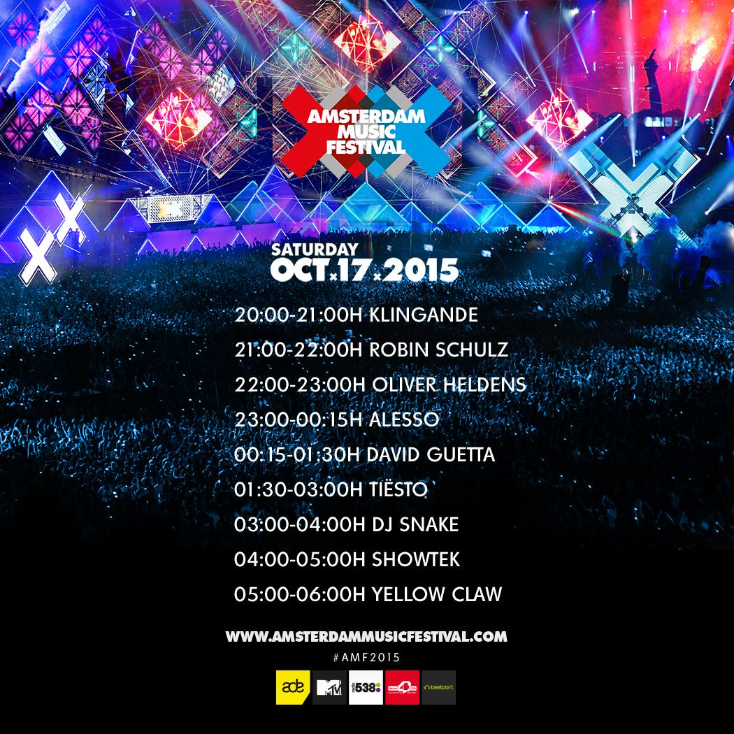 Amsterdam Music Festival 2015 Saturday