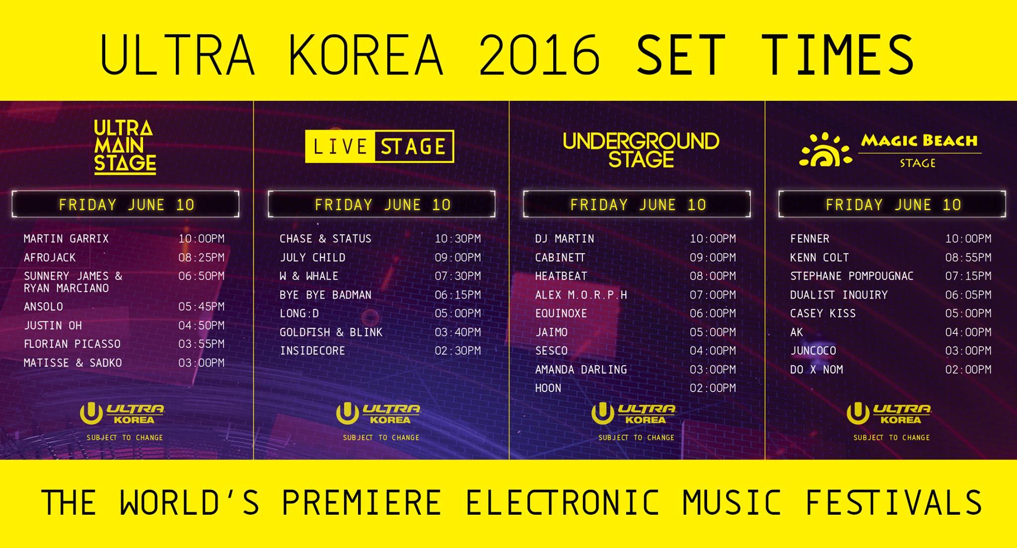ULTRA KOREA 2016 Friday