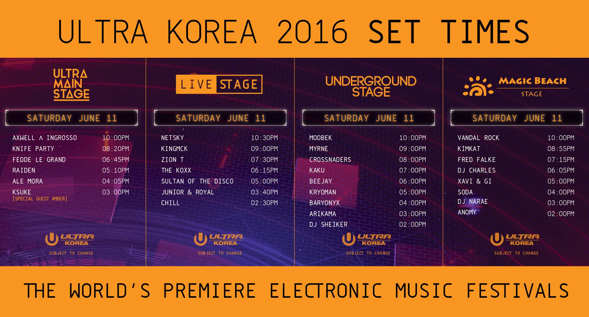 ULTRA KOREA 2016 Saturday