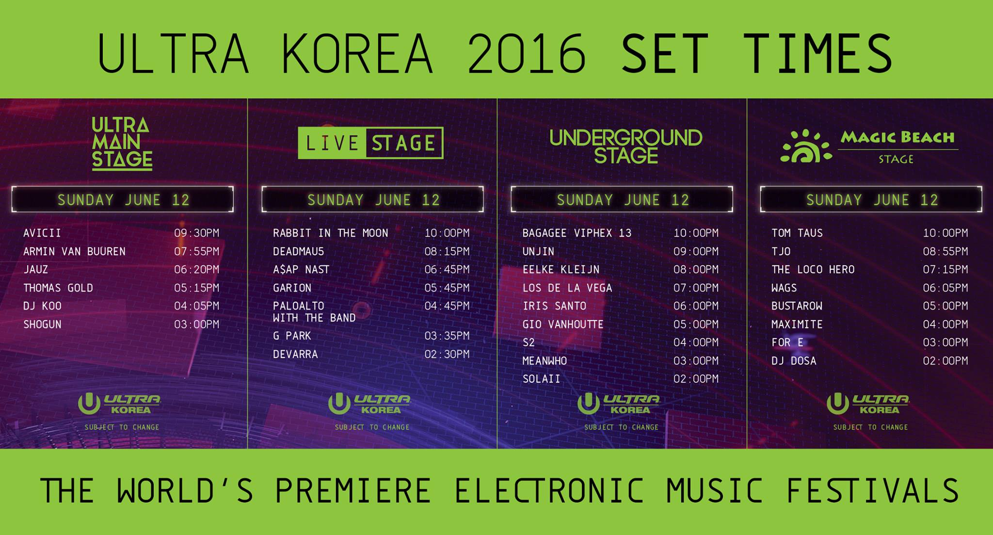 ULTRA KOREA 2016 Sunday
