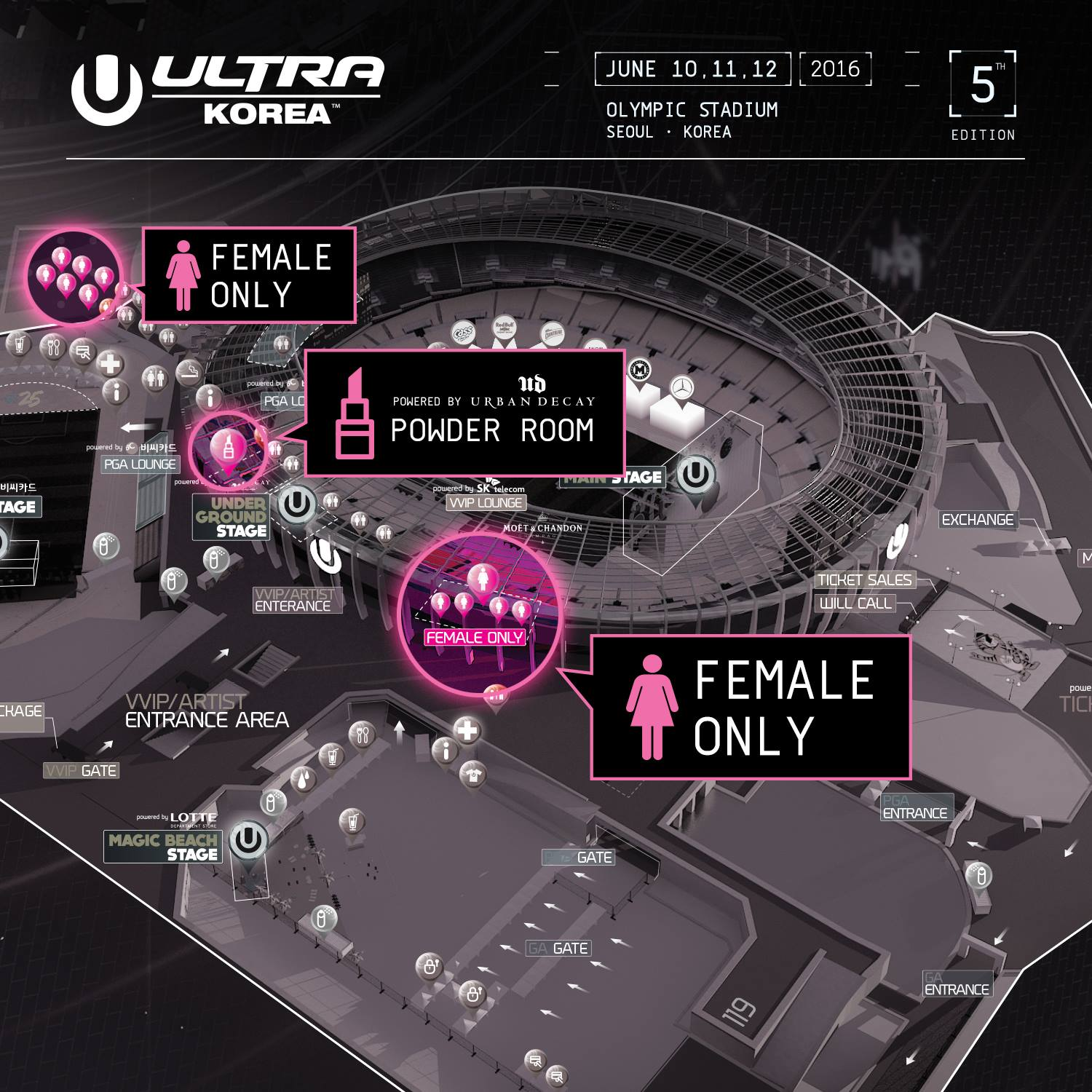 ULTRA KOREA 2016 Women-only area