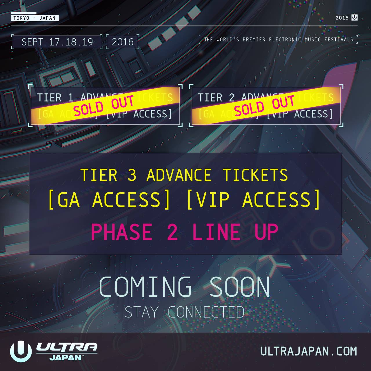 TIER 2 ADVANCE TICKETS COMPLETELY SOLD OUT!