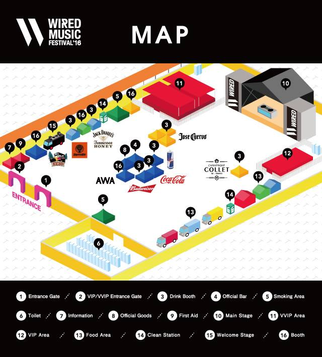 WIRED MUSIC FESTIVAL'16 MAP