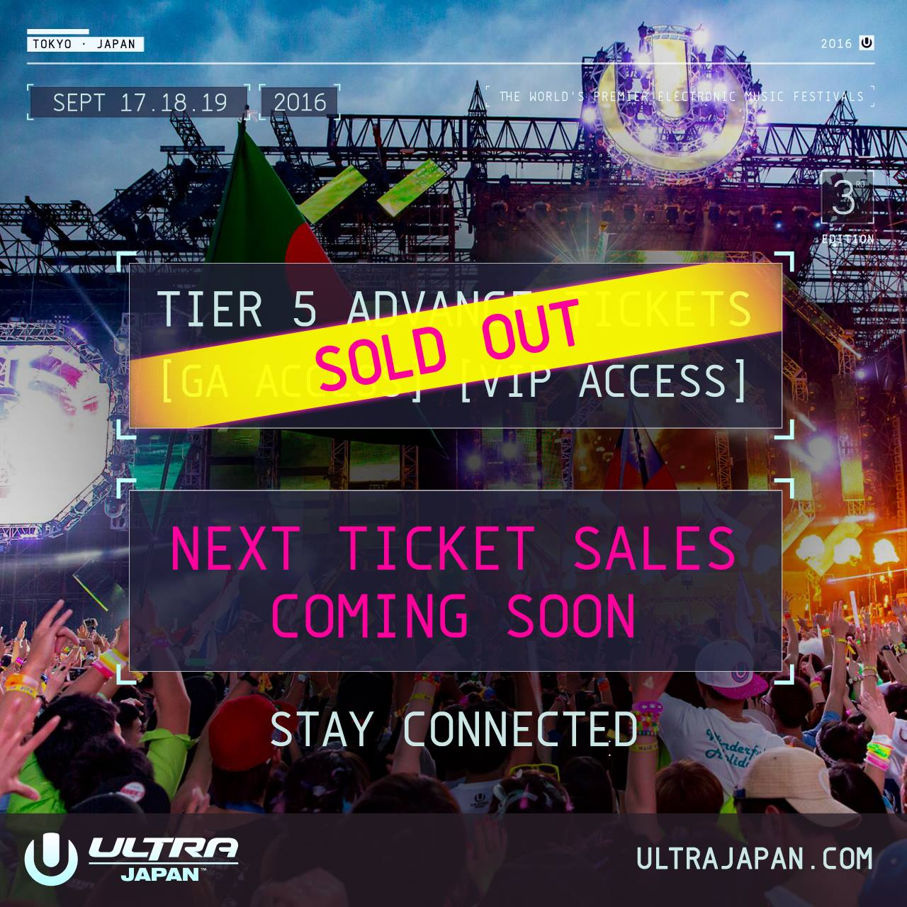 TIER 5 ADVANCE TICKETS COMPLETELY SOLD OUT