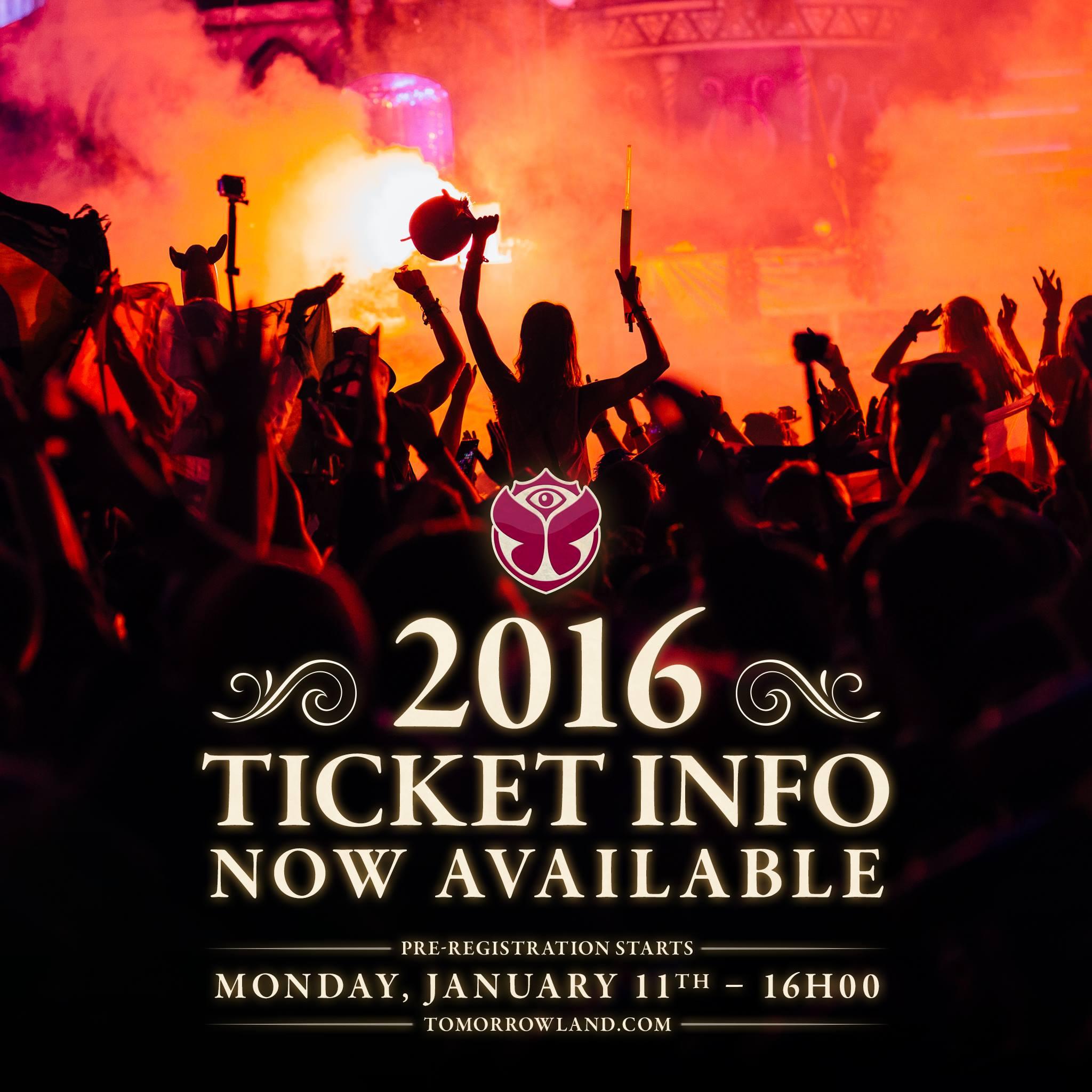 Tomorrowland 2016 ticket info