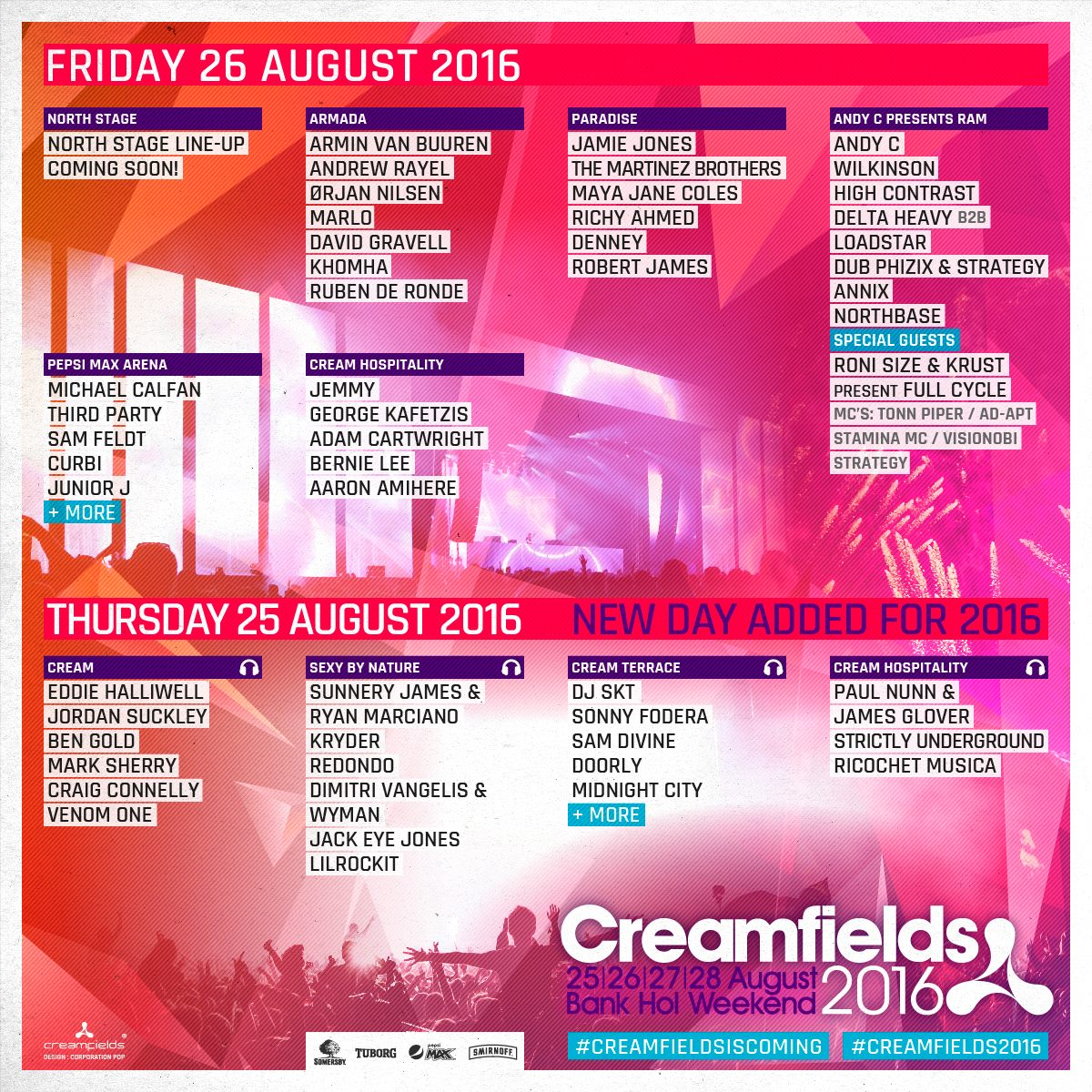 Creamfields 2016 26 line up