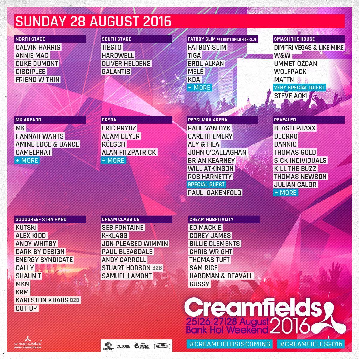 Creamfields 2016 28 line up