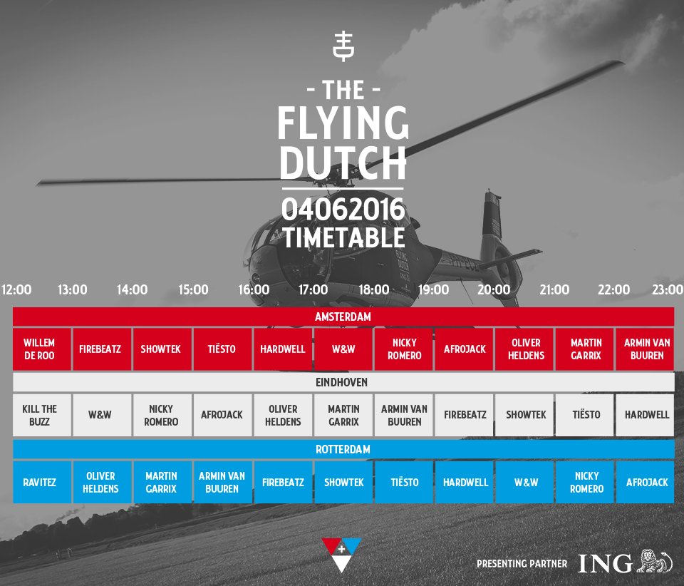 The Flying Dutch TIMETABLE