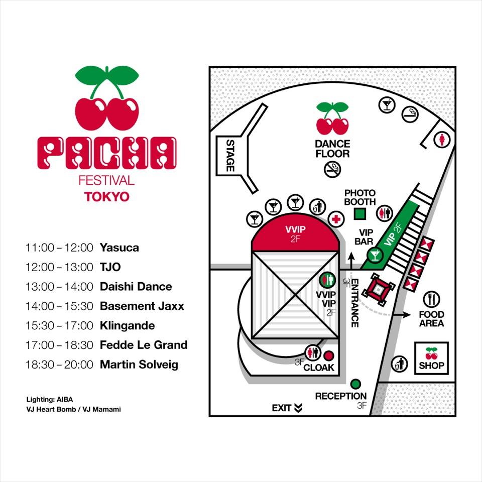 PACHA FESTIVAL TOKYO Timetable