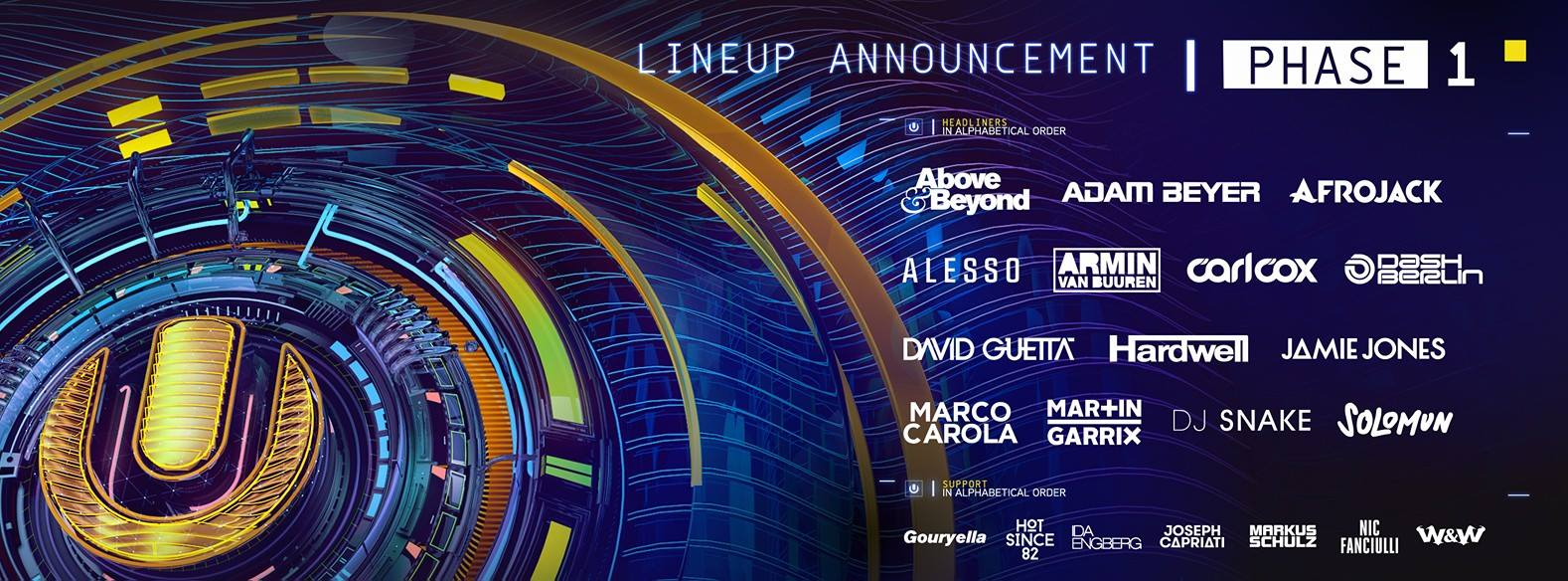 Ultra Europe 2016 Phase 1 Lineup
