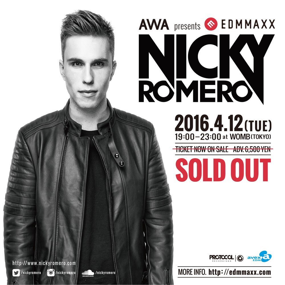 Nicky Romero SOLD OUT