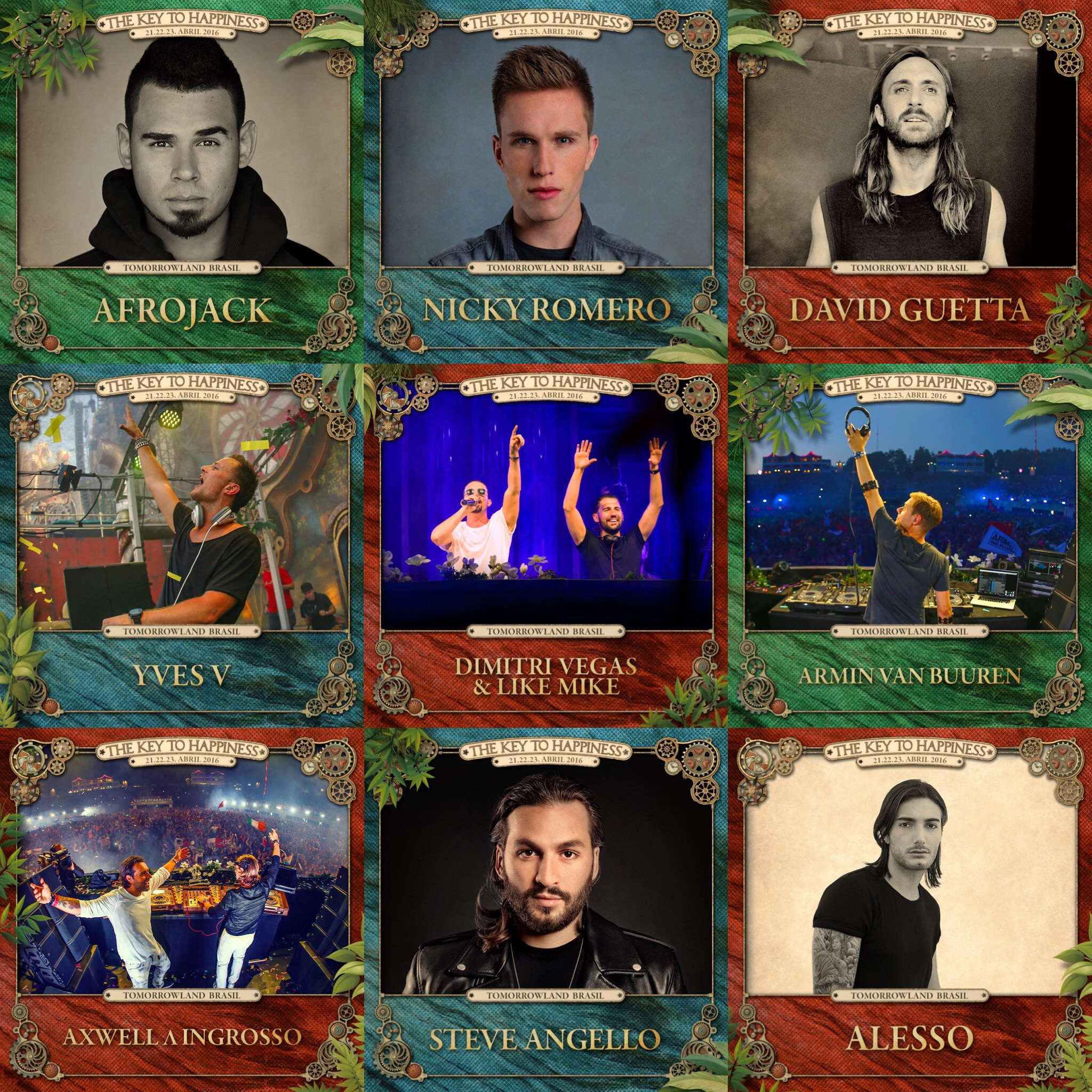Tomorrowland Brasil 2016 Headliners