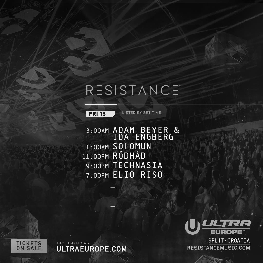 Ultra Europe 2016 Resistance fri