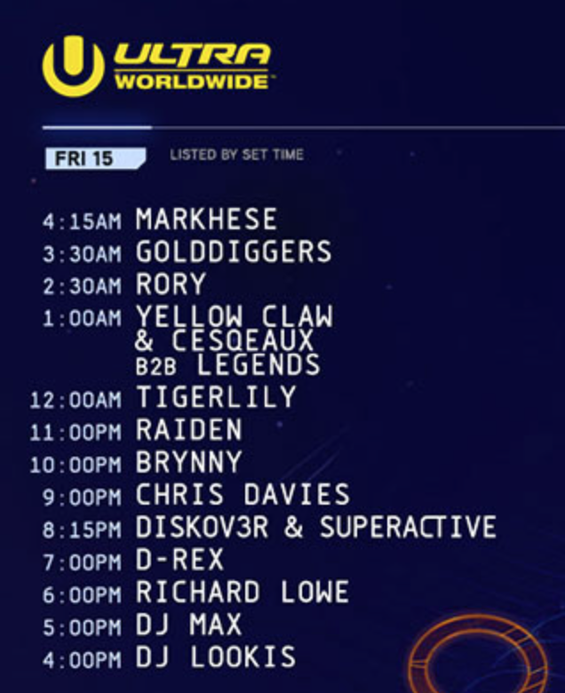 Ultra Europe 2016 Woridwide fri